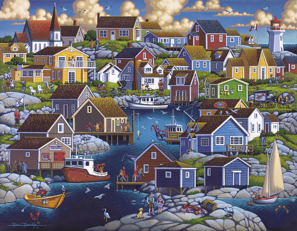 Peggy's Cove Canada Jigsaw Puzzle