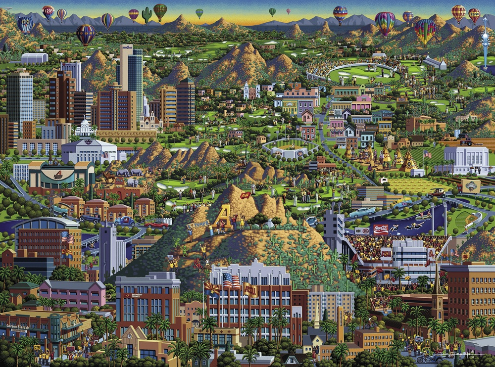 Valley Of The Sun Landmarks / Monuments Jigsaw Puzzle