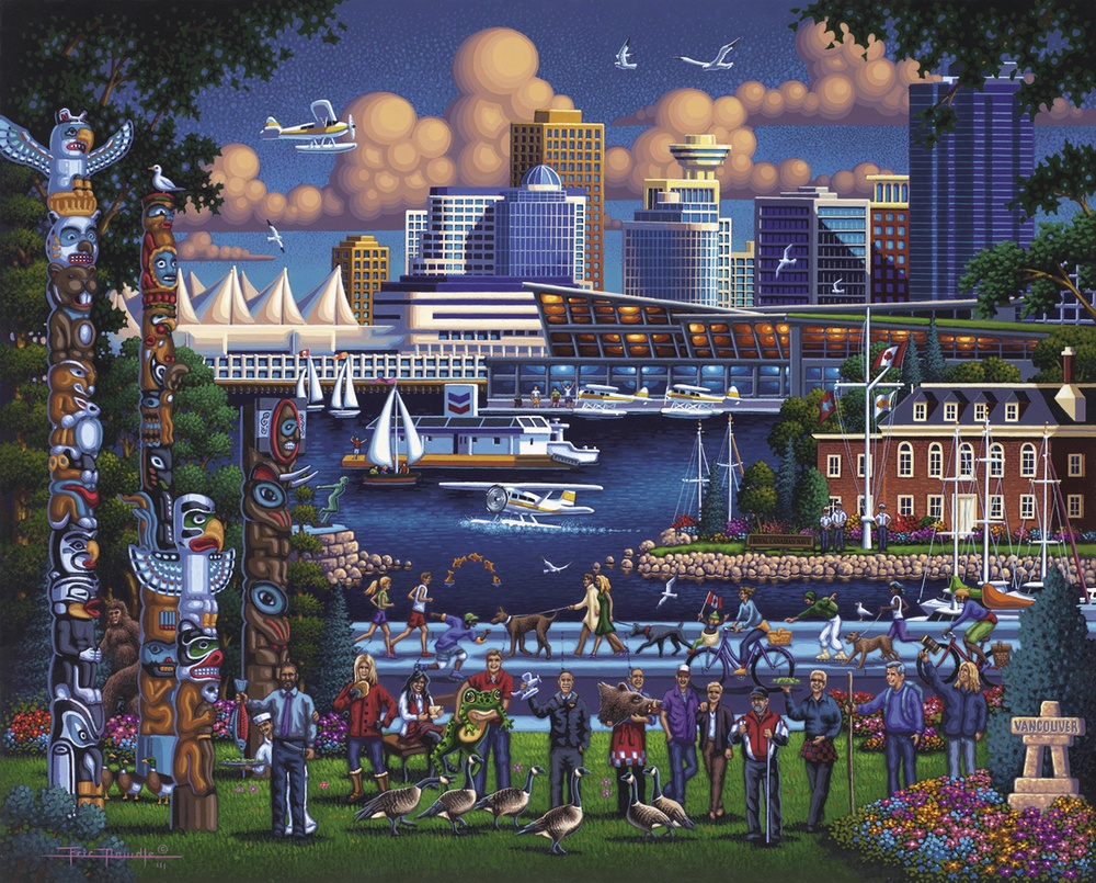 Stanley Park Americana & Folk Art Jigsaw Puzzle