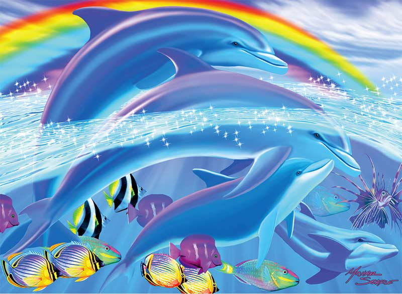 Dolphin Rainbow Dreams Jigsaw Puzzle Puzzlewarehouse Com