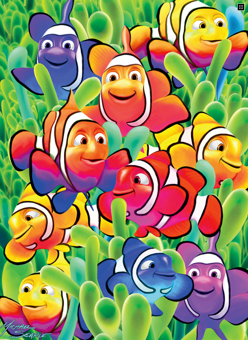 Cute Clowns - Scratch and Dent Under The Sea Jigsaw Puzzle