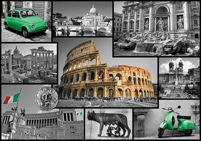 Rome  Cities Collage  Jigsaw Puzzle  PuzzleWarehouse com