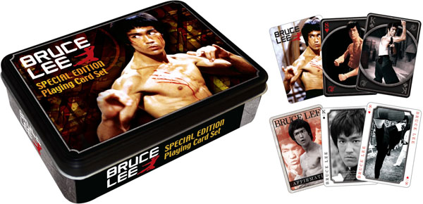 Bruce Lee (Playing Card Tin Set) Famous People Playing Cards
