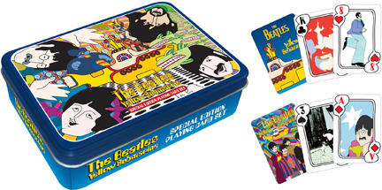 Playing Cards - Beatles Yellow Submarine (Double Deck Tin) Music Playing Cards
