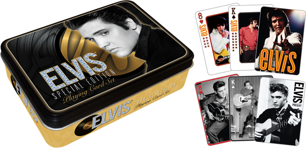 Elvis- Gold (Playing Card Tin Set) Famous People Playing Cards