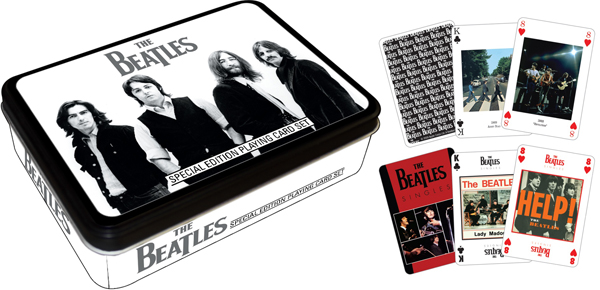 Beatles - Black (Playing Card Tin) Famous People