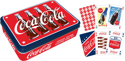 Coca-Cola Playing Card Tin - 2 decks Coca Cola Playing Cards