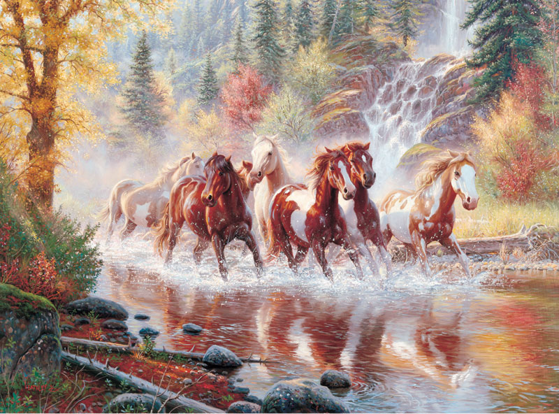 Born to Run Horses Jigsaw Puzzle