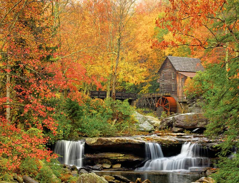 Old Grist Mill - Scratch and Dent Fall Jigsaw Puzzle