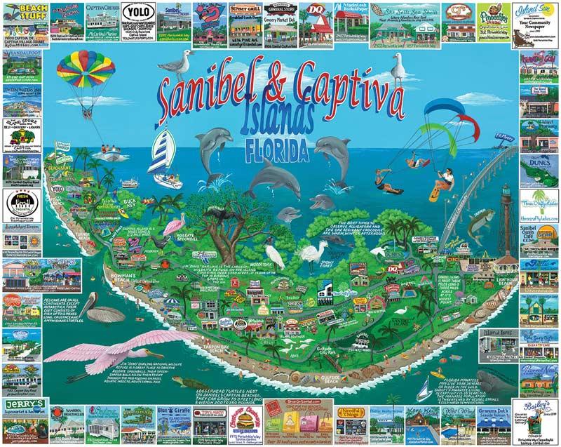 Sanibel Island Map: Sanibel & Captiva Islands, Florida Jigsaw Puzzle