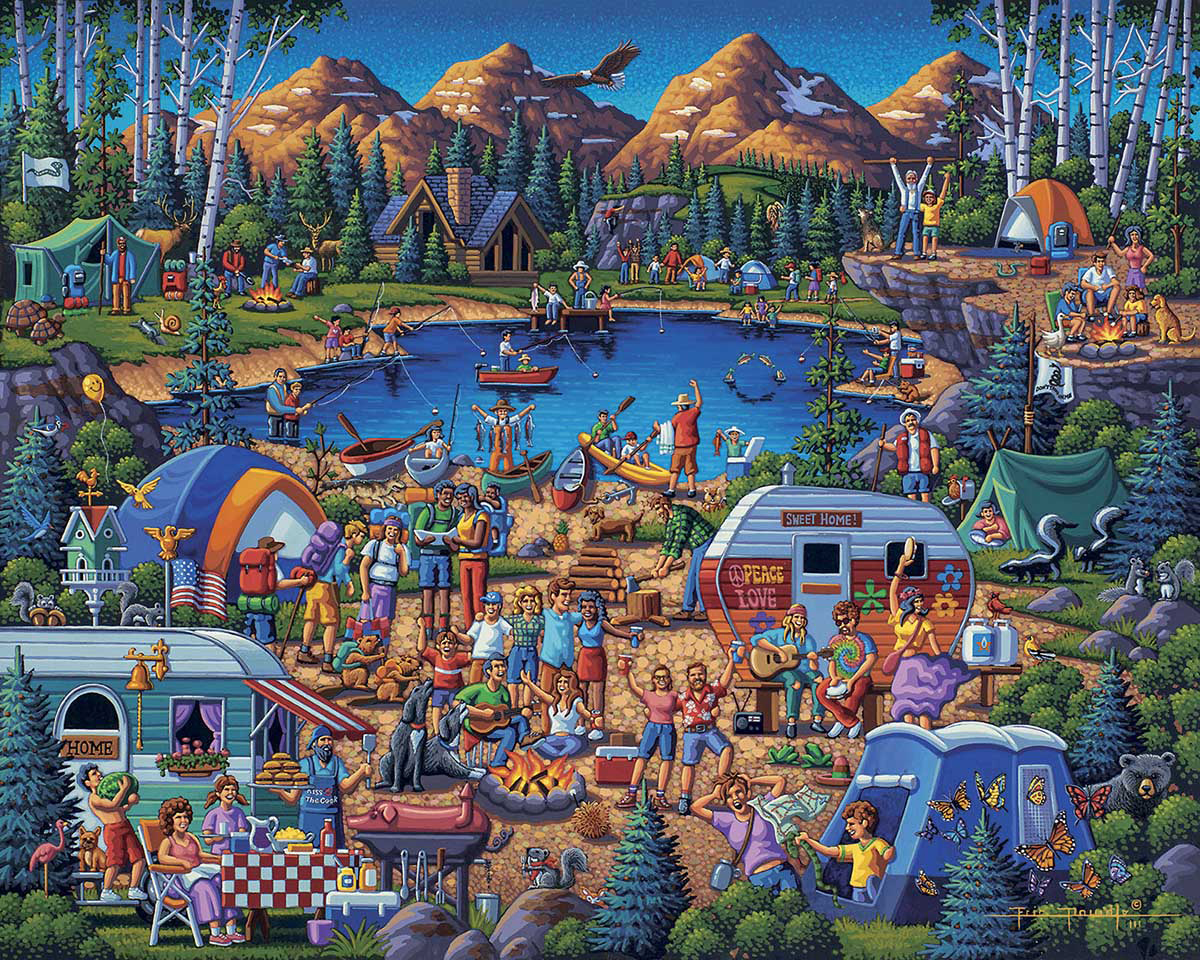 Camping Adventure Travel Jigsaw Puzzle