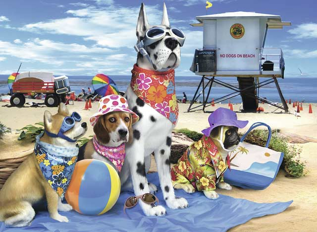 No Dogs on the Beach Beach Jigsaw Puzzle