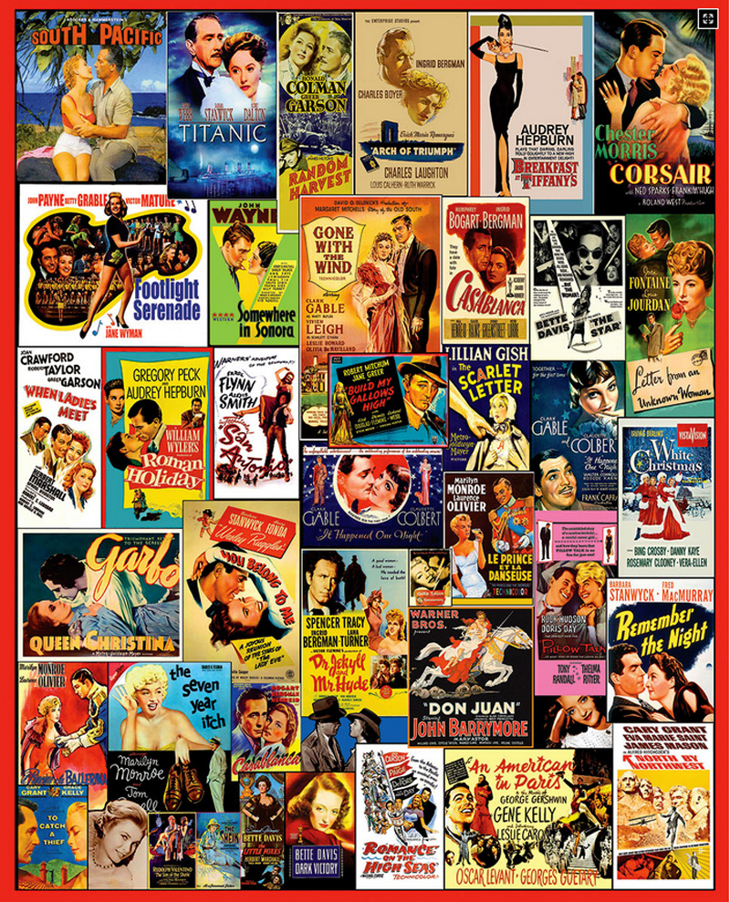 Movie Posters Collage Jigsaw Puzzle