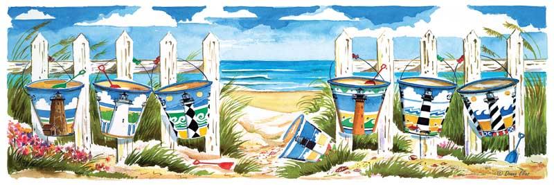 Carolina Beach Buckets Beach Jigsaw Puzzle