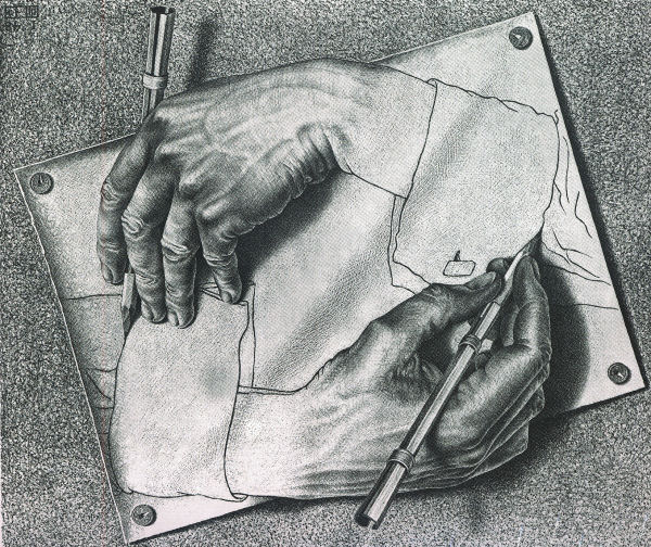 Escher: Drawing Hands Jigsaw Puzzle