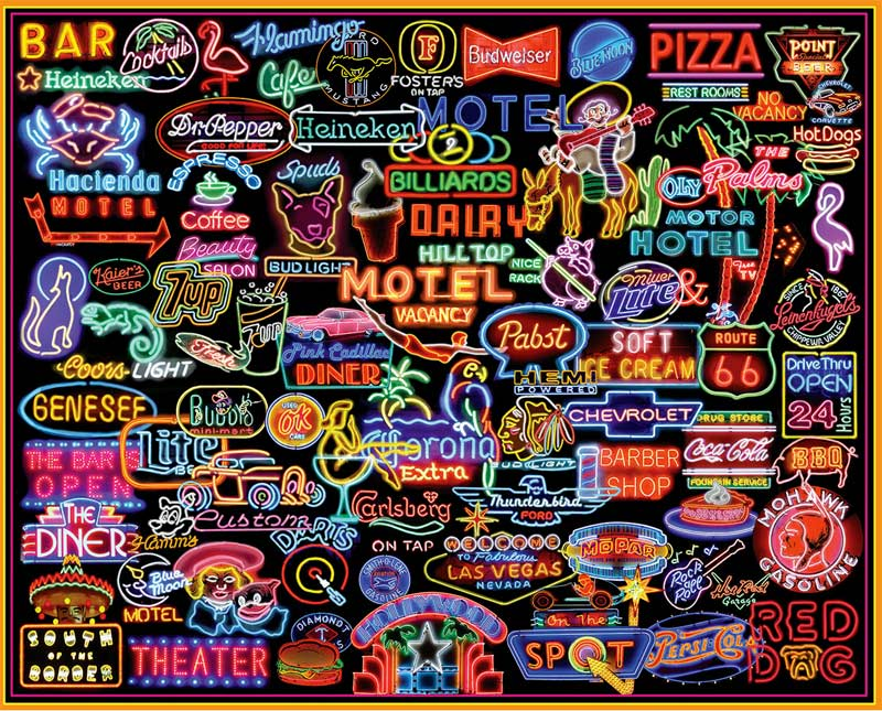 Neon Signs Graphics / Illustration Jigsaw Puzzle