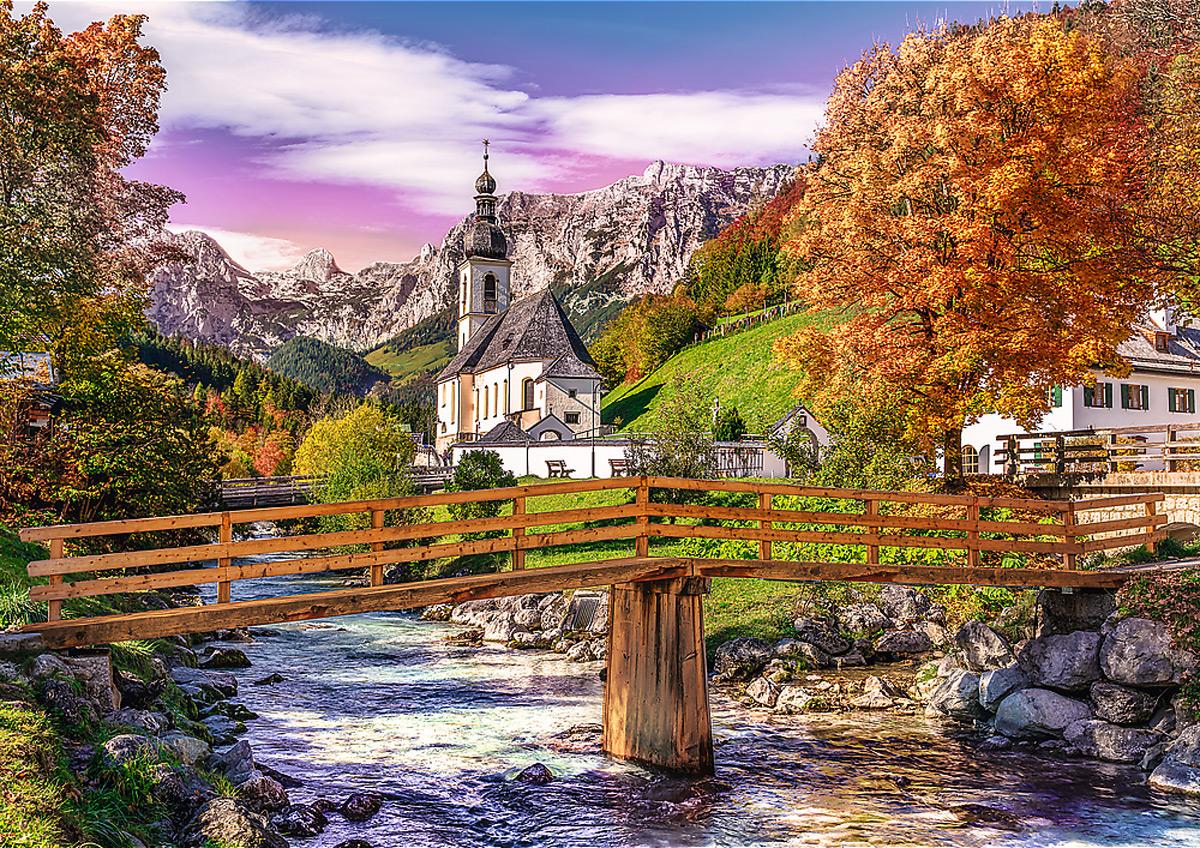Autumn Bavaria Churches Jigsaw Puzzle