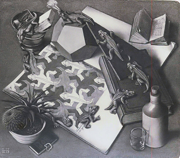 Escher: Reptiles Jigsaw Puzzle