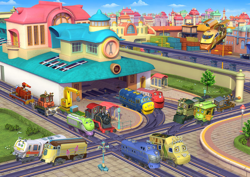 Chuggington - Busy Day Trains Jigsaw Puzzle