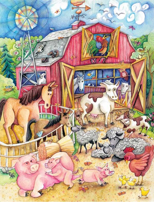 My Funny Farm Farm Animals Large Piece