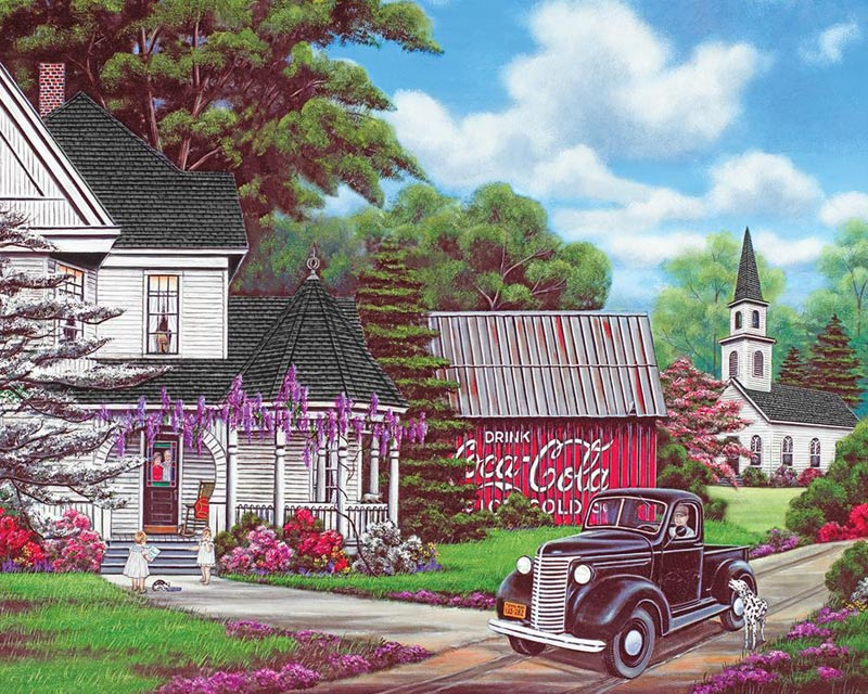 Coca-Cola Country Coca Cola Jigsaw Puzzle