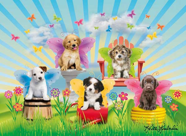 Doggie Wings Dogs Children's Puzzles