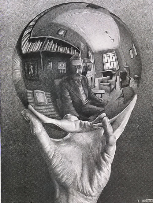 Escher: Hand with Globe Jigsaw Puzzle