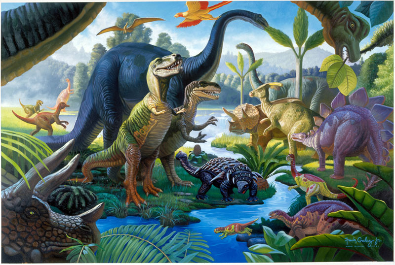 Land of the Giants Dinosaurs Jigsaw Puzzle