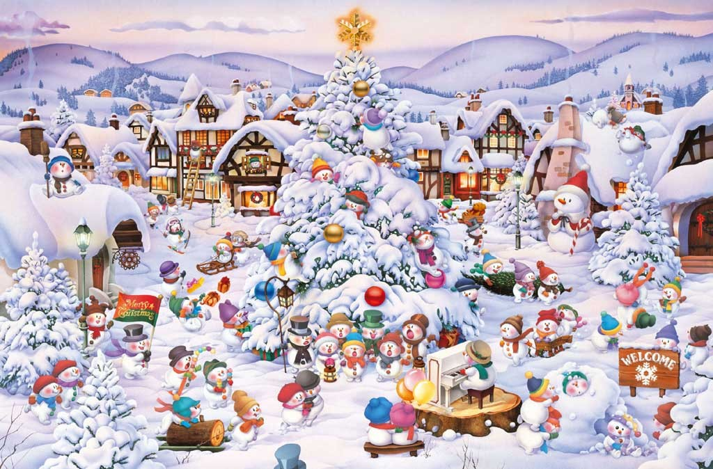 Christmas Choir Winter Jigsaw Puzzle