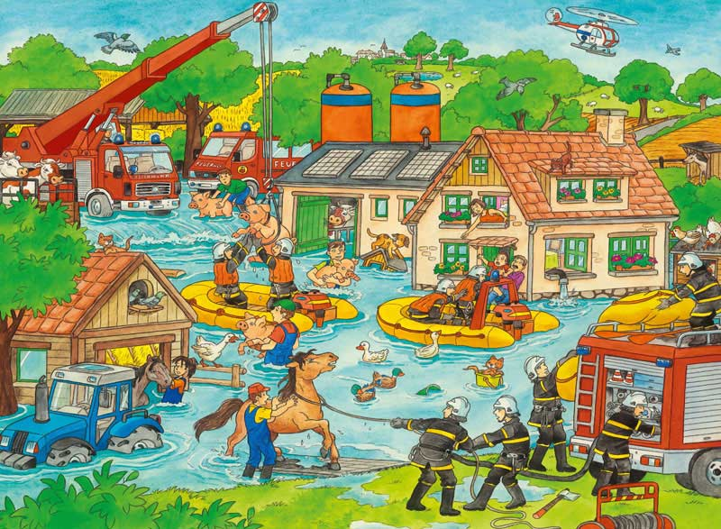 In the Event of a Flood Cartoons Jigsaw Puzzle