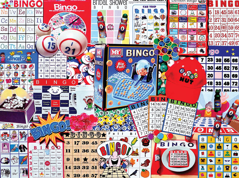 Bingo - Scratch and Dent Nostalgic / Retro Jigsaw Puzzle