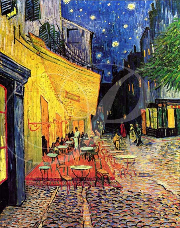 The Cafe Terrace Impressionism Wooden Jigsaw Puzzle