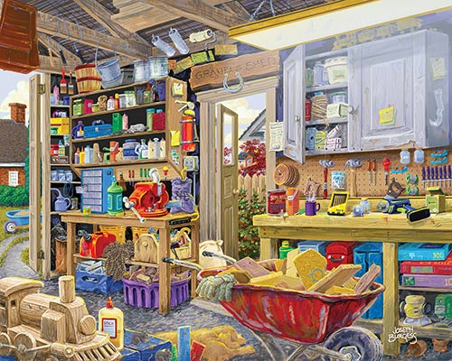 Grandpa S Shed Jigsaw Puzzle Puzzlewarehouse Com