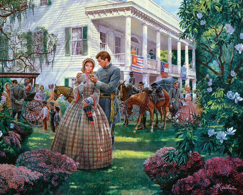 Magnolia Morning - April 7, 1861 - Scratch and Dent Patriotic Jigsaw Puzzle