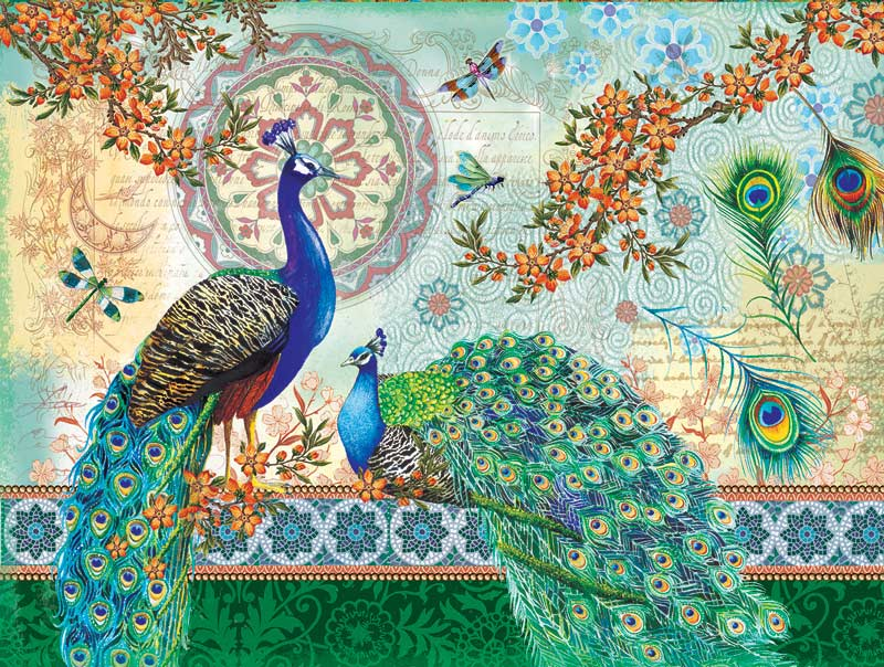 Royal Peacocks Animals Jigsaw Puzzle