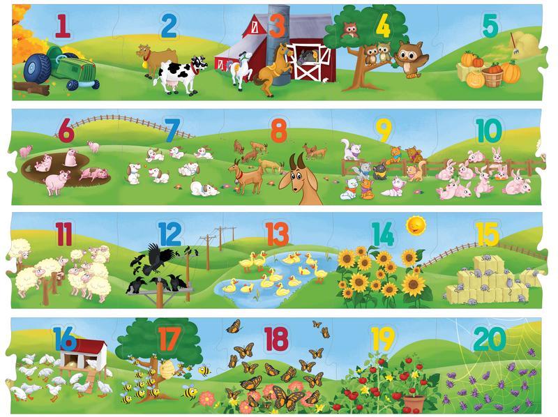 Floor Puzzle - Counting Farm Educational Floor Puzzle