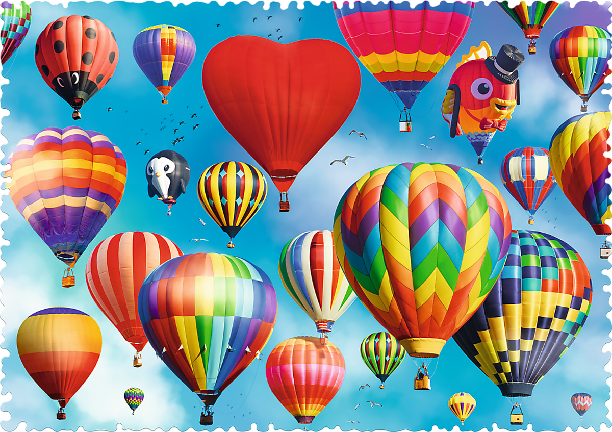 Colourful Balloons - Scratch and Dent Balloons Shaped Puzzle