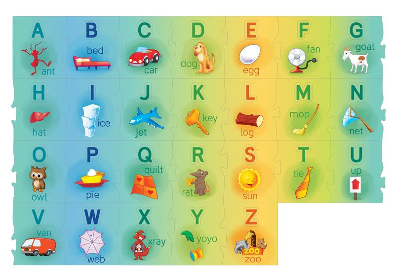 Floor Puzzle - Alphabet Alley Educational Floor Puzzle