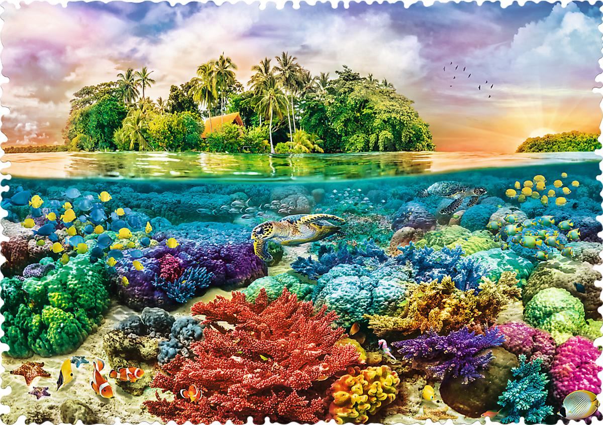 Tropical Island - DUPE Seascape / Coastal Living Shaped Puzzle