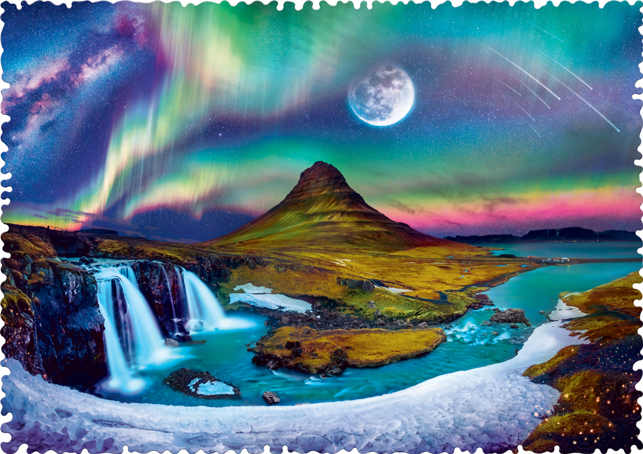 Aurora Over Iceland Shaped Puzzle