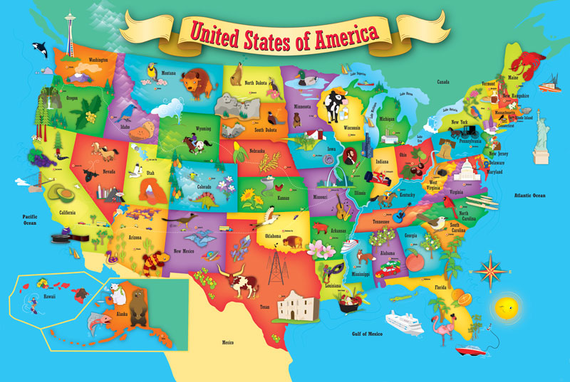 Usa Map Floor Puzzle: Wonderfoam Usa Map Puzzle At Infoasik.co