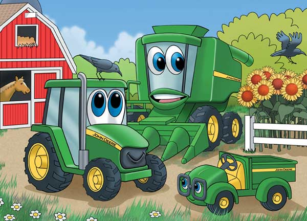 John Deere - Johnny Tractor and Friends Farm Jigsaw Puzzle