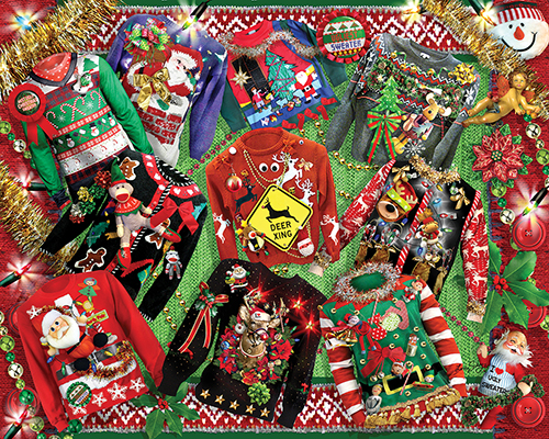Ugly Christmas Sweaters Everyday Objects Jigsaw Puzzle