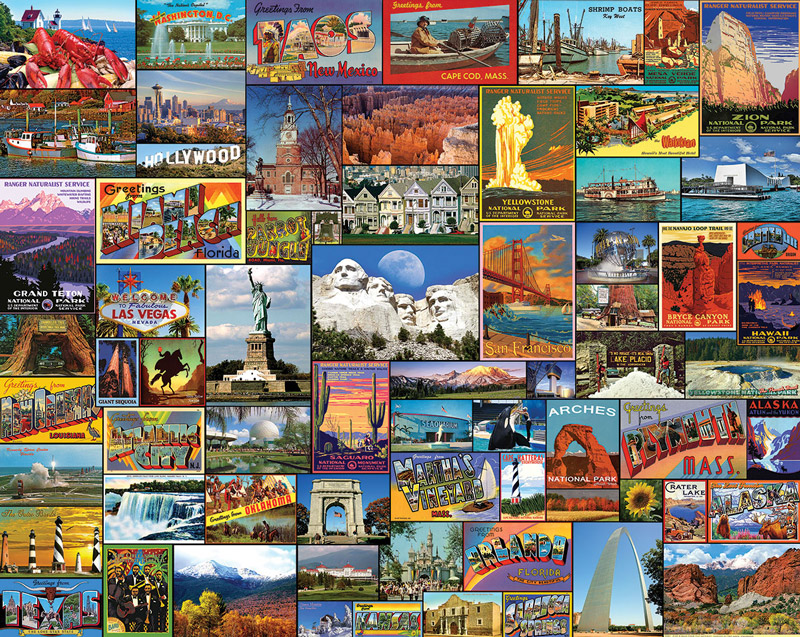 Best Places in America - Scratch and Dent Travel Jigsaw Puzzle