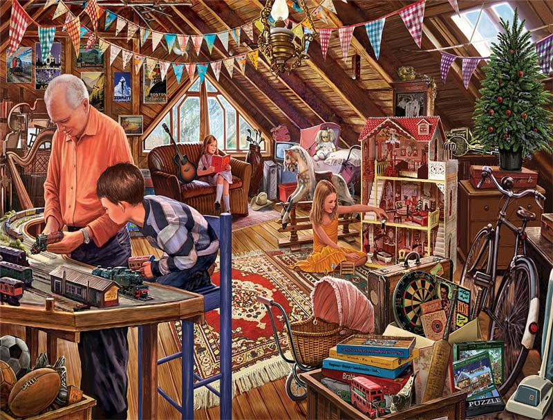 Attic Treasures - Scratch and Dent Inspirational Jigsaw Puzzle