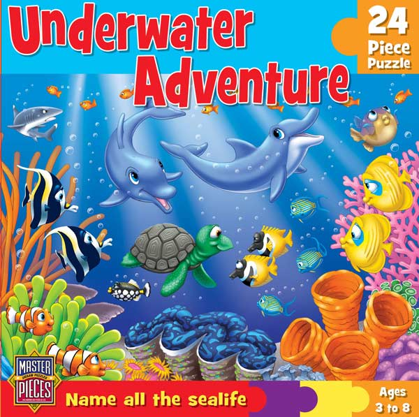 Fun and Learn - Underwater Adventure Dolphins Children's Puzzles