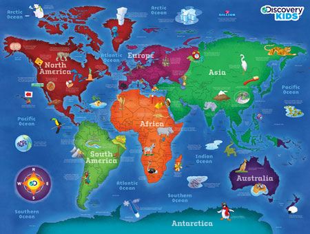 World Map Magnifinder Educational Jigsaw Puzzle