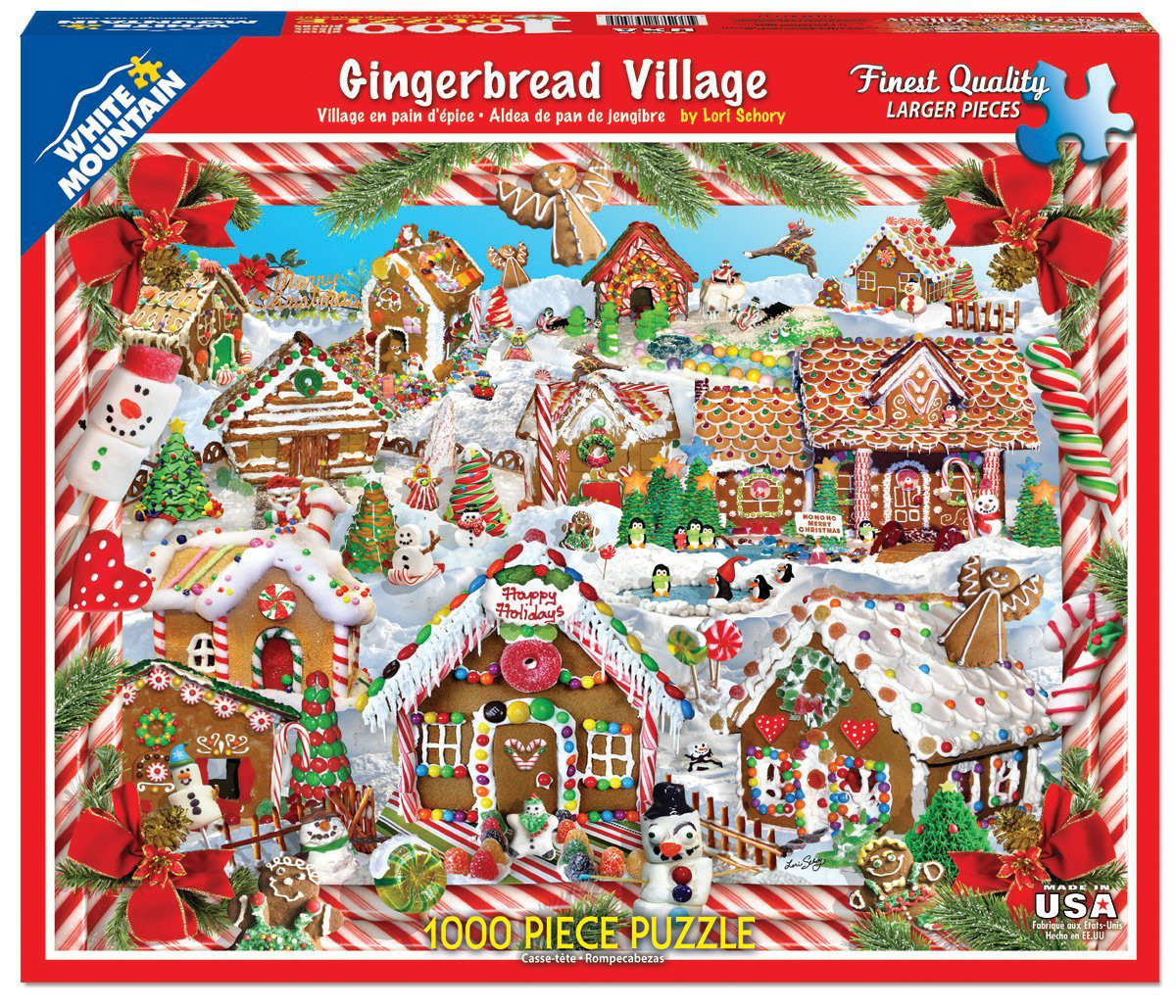 Gingerbread Village - Scratch and Dent Christmas Jigsaw Puzzle
