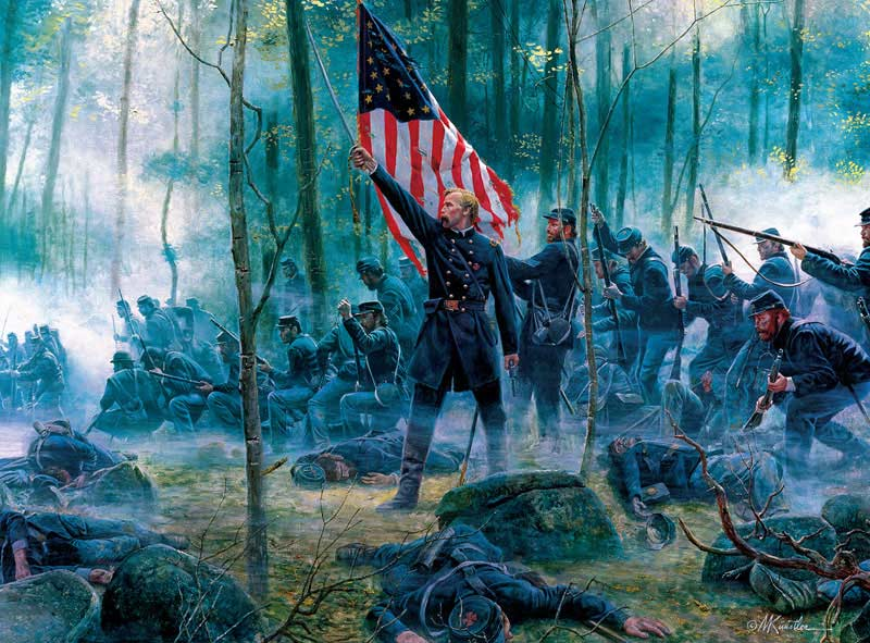 Hero of Little Round Top Patriotic Jigsaw Puzzle