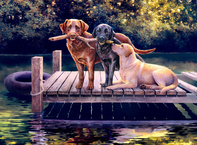 Dog Days Dogs Jigsaw Puzzle